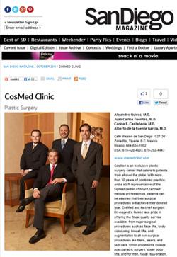 Cosmed Clinic San Diego Magazine