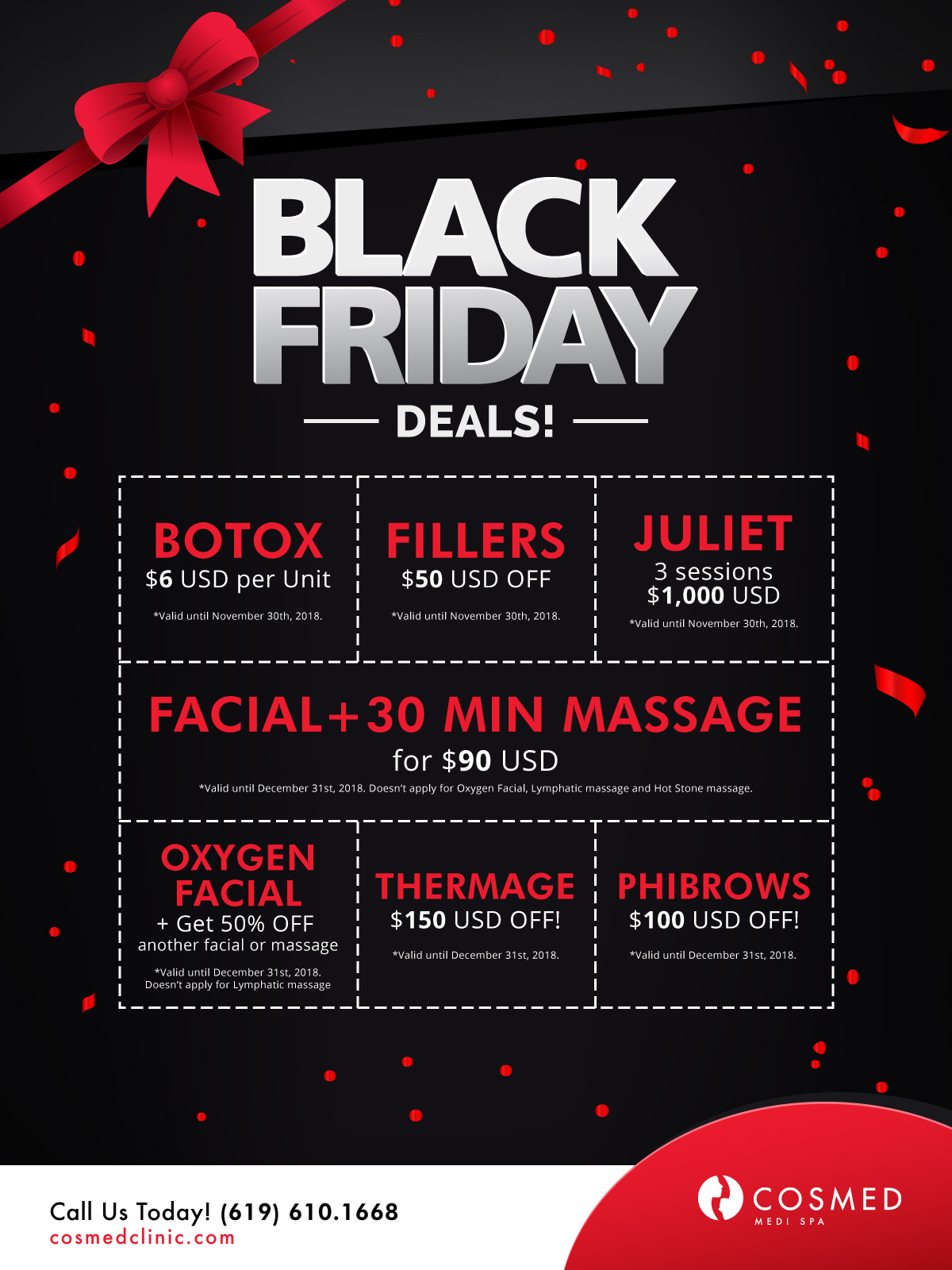 black friday promo fillers and botox